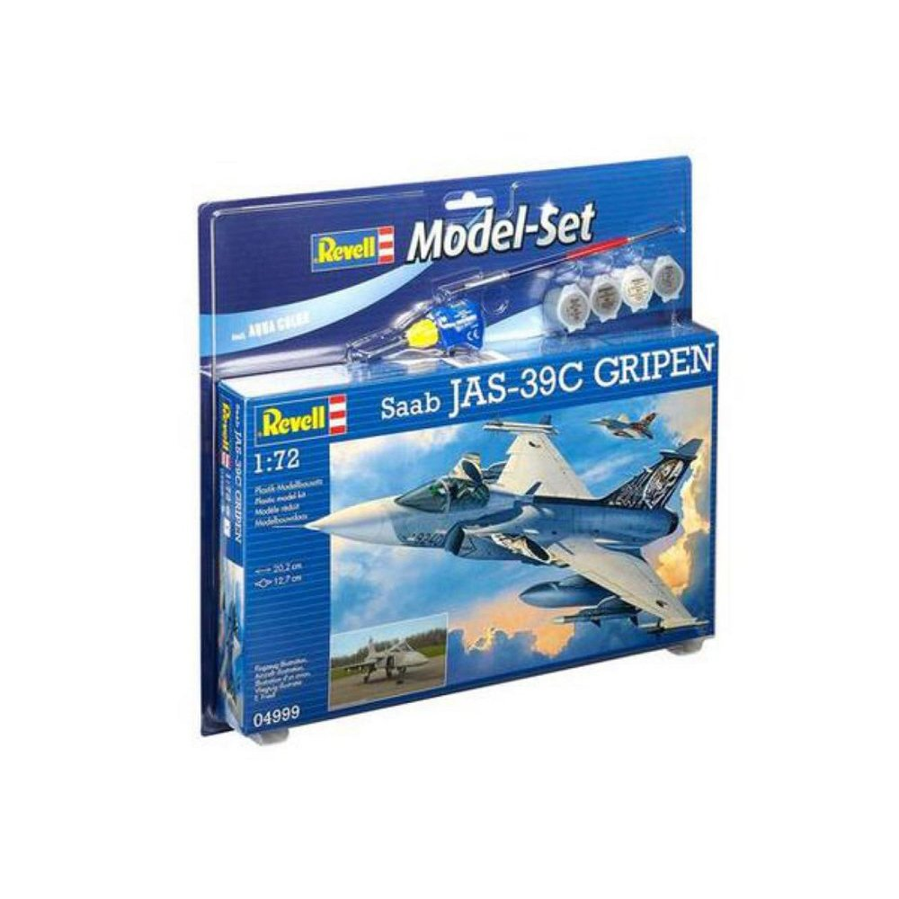 Revell Saab JAS-39C Gripen 1:72 Assembly Kit Fixed-Wing Aircraft - maquetas de aeronaves (1:72, Assembly Kit, Fixed-Wing Aircraft, Saab JAS-39C Gripen, Military Aircraft, De plástico)