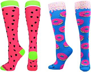 product image for MadSportsStuff Neon Watermelon Athletic Over The Calf Socks