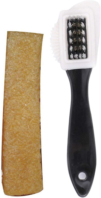 Jovitec 3 Pieces Horsehair Shoe Polish Brush Wooden Care Shine Brush Dauber Brus