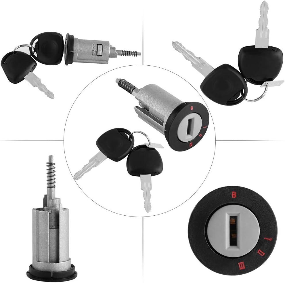 kit di sostituzione chiavi di ricambio per auto professionale Keenso con kit interruttore a 2 chiavi Set di barilotti di blocco accensione con chiave