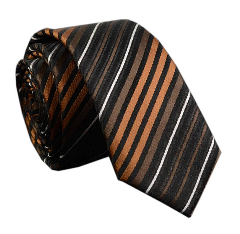 Men Unisex Women Bronze Stripe Silk Ties Unique Engagement Neckties Wedding Day