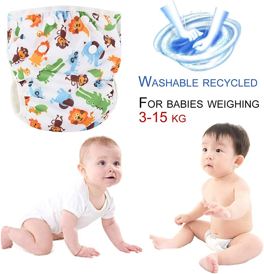 SeniorMar Washable Baby Unisex Adjustable Swim Diaper Pool Pant Waterproof Reusable Baby Training Swimming Diaper Swimsuit