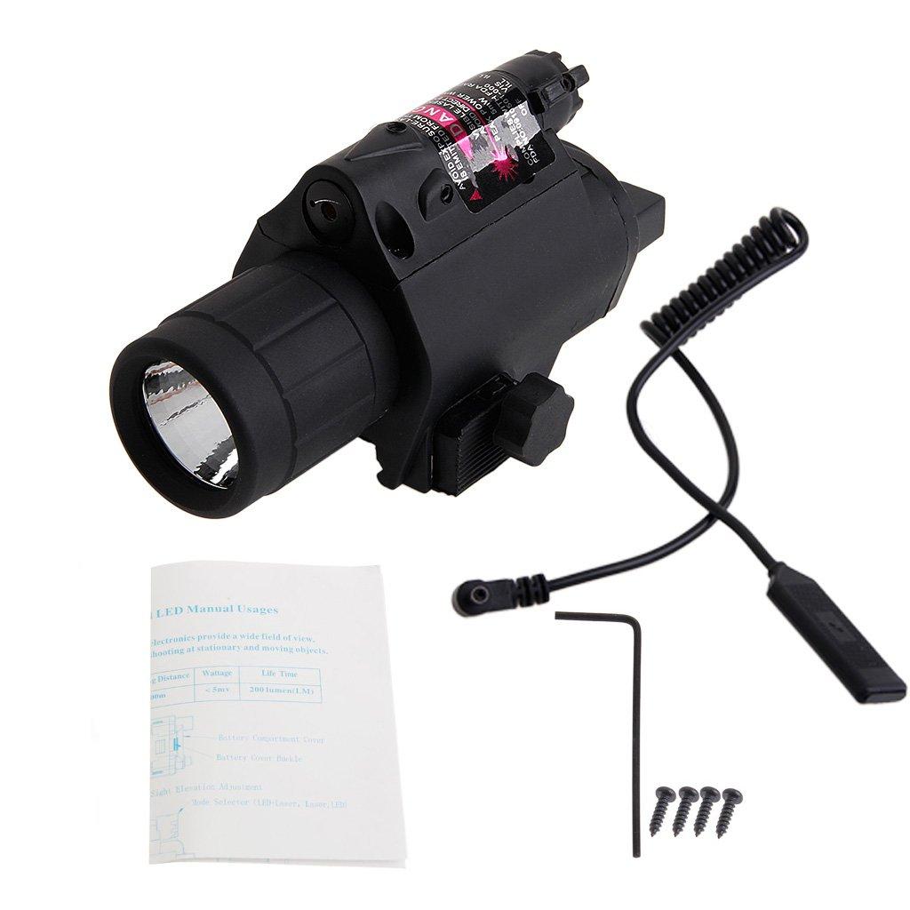 ULKEME Red optics Sight LED Flashlight Tactical Light 2 in 1 Combo for Picatinny Rail