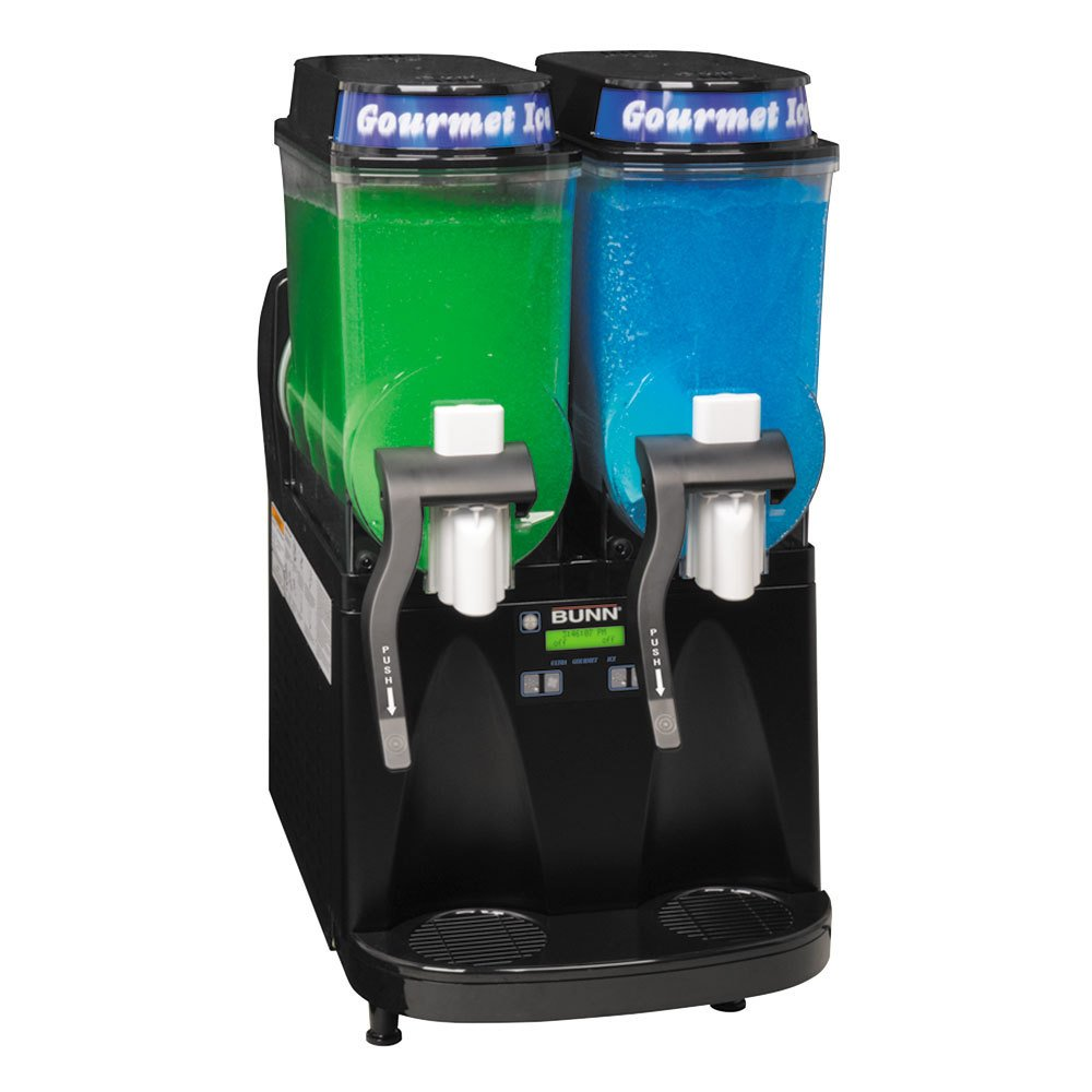 Bunn Ultra-2 HP LAFI High Performance Liquid Autofill Slushy / Granita Frozen Drink Machine with 2 Hoppers - Black 120V (Bunn 34000.0515)