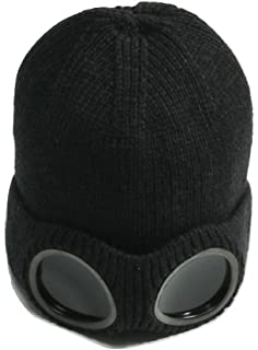 a9c115f7aeab5 LL L L® Unisex Beanie Hat Glasses Goggle Winter Knit Caps Plush Lined Ski Knitted  Cap