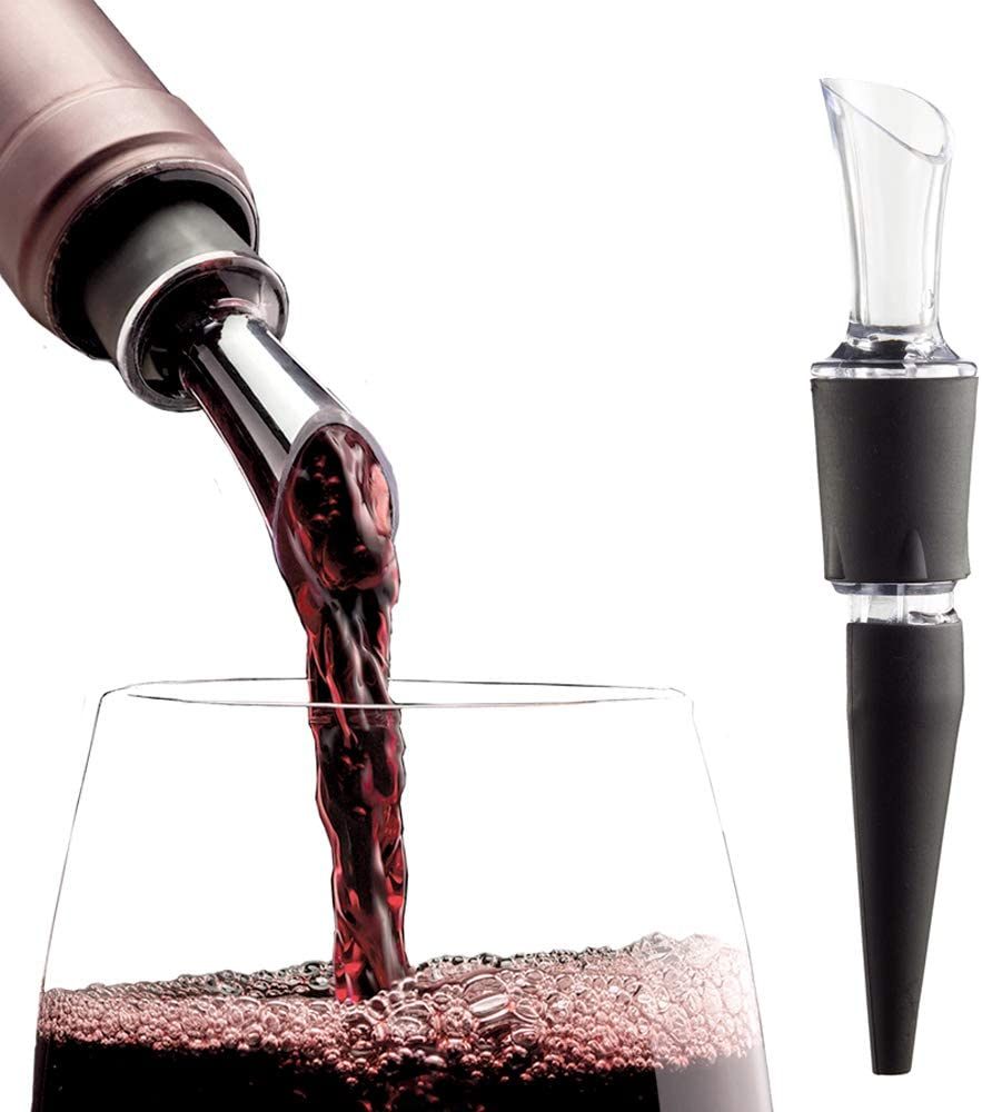2-PACK - AeraWine Patented Infusion Aerator - 100% Made in the USA - Premium Instant Wine Aerator Pourer Decanter
