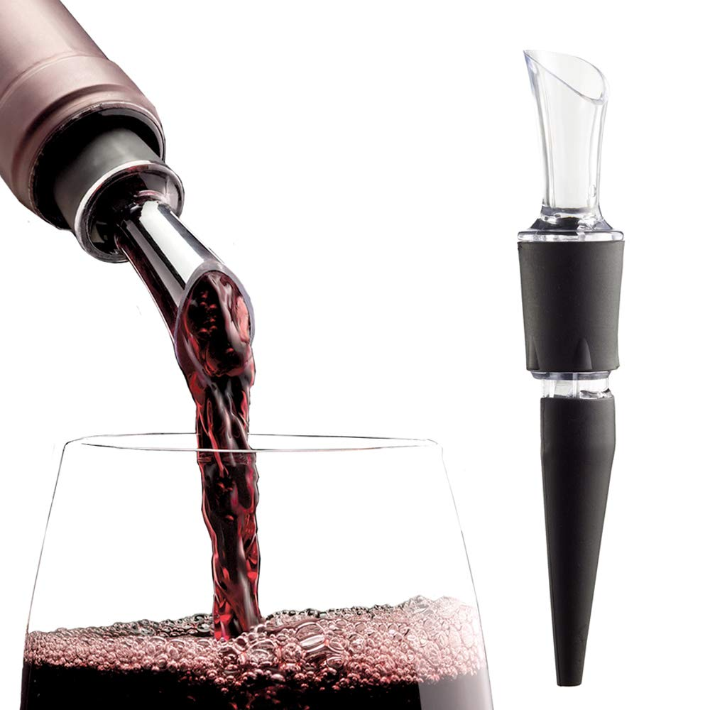 2-PACK - AeraWine Patented Infusion Aerator - 100% Made in the USA - Premium Instant Wine Aerator Pourer Decanter by AeraWine