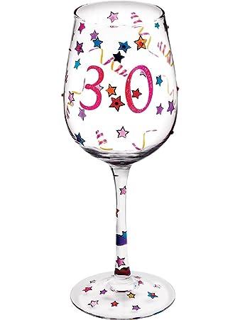 Amazon.com: Suki Feliz cumpleaños 30th copa de vino: Home ...