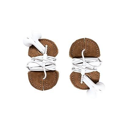 Amazon.com: piel auriculares Wrap 2-Pack hecho a mano por ...