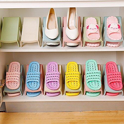financeplan plástico estante de zapatos organizador de visualización rack estante de soporte de almacenamiento de ahorro de...