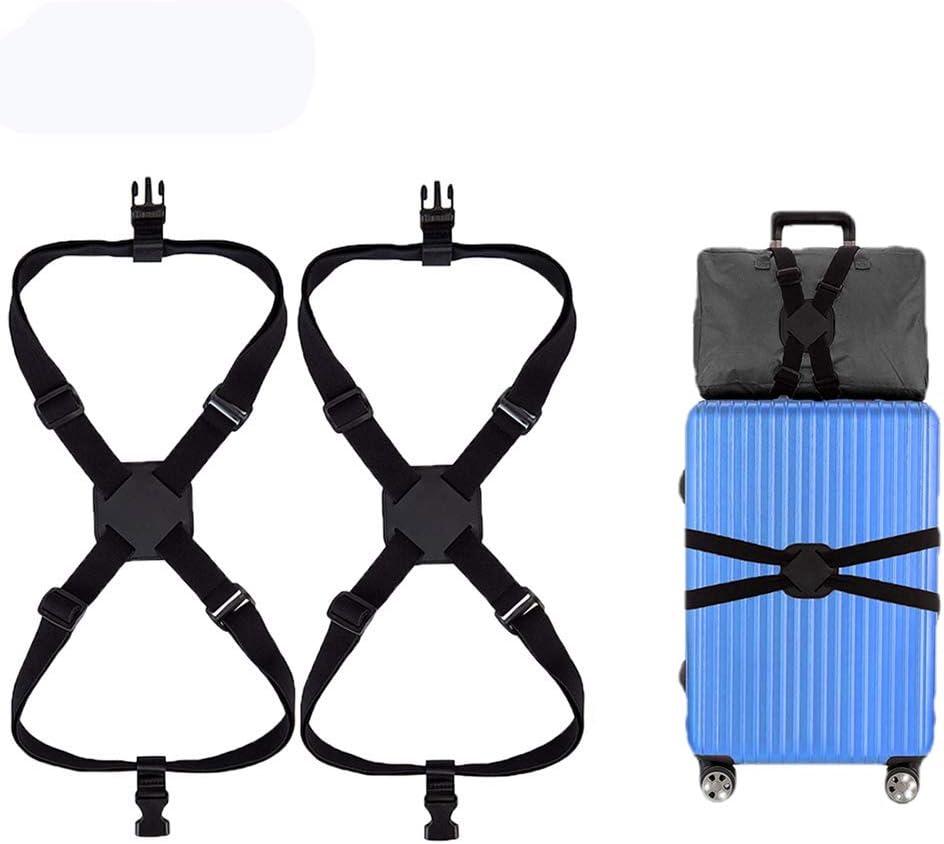 Correa de Equipaje 2 Pack Ajustable con Alta Elasticidad Cinturón ...