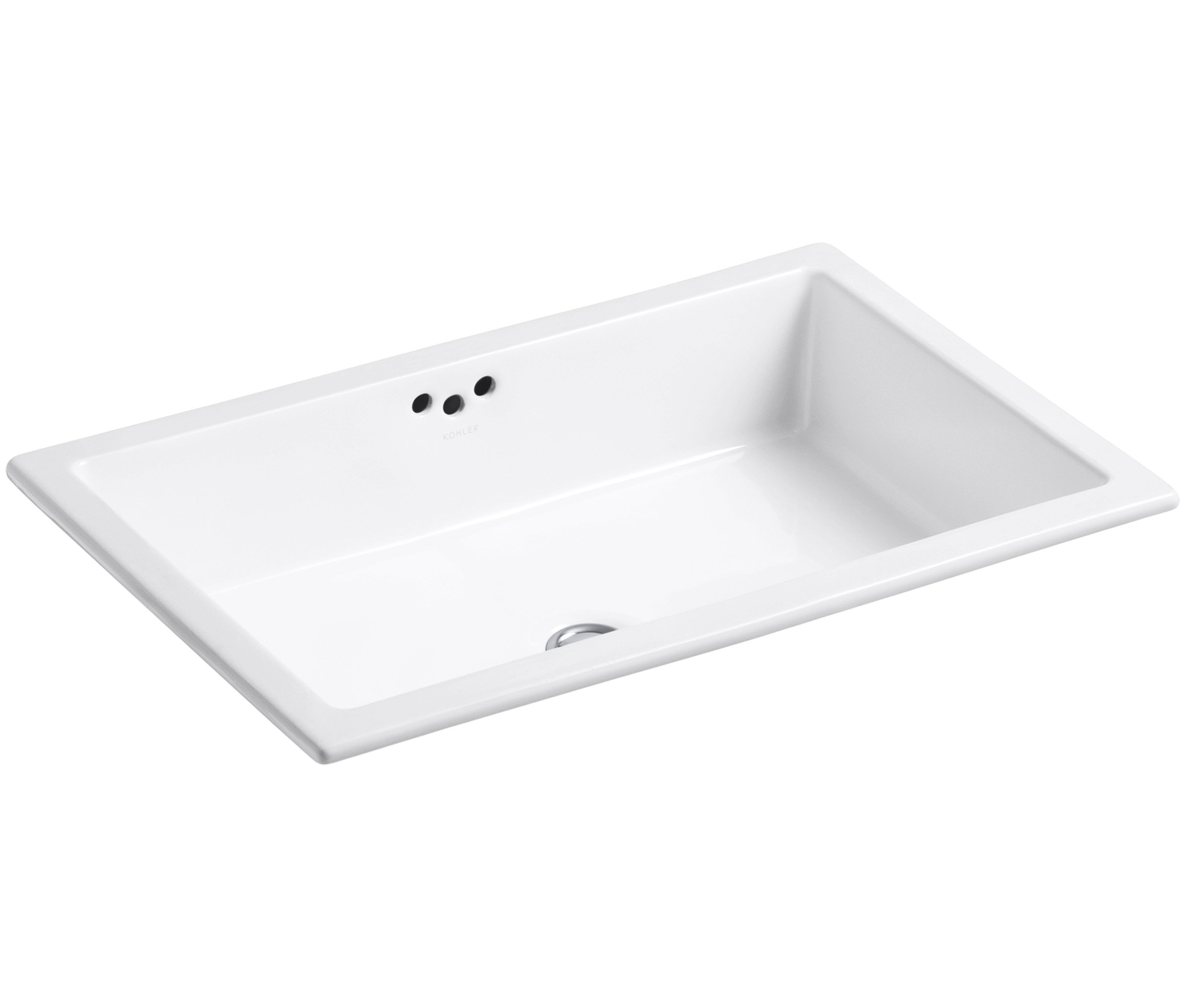 KOHLER K-2297-0 Kathryn Undercounter Bathroom Sink, White by Kohler