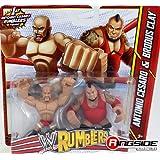 ANTONIO CESARO & BRODUS CLAY - WWE RUMBLERS TOY WRESTLING ACTION FIGURES