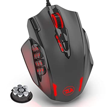 288882759f1 Redragon M908 Impact RGB LED MMO Mouse Laser Wired Gaming Mouse with  12,400DPI, High