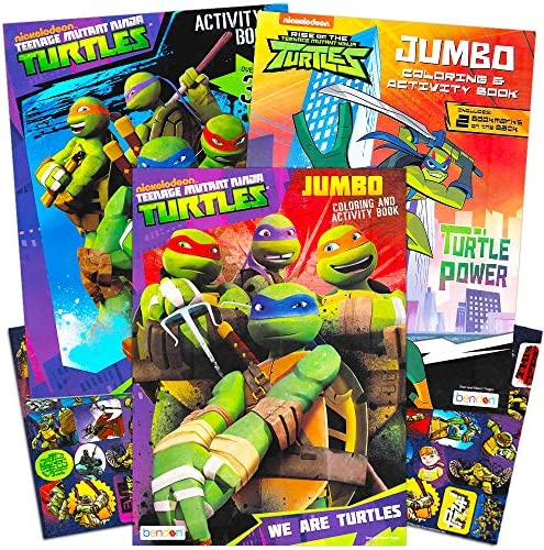 Teenage Mutant Ninja Turtles Coloring and Activity Book Set with Stickers (3 TMNT Coloring Books, Over 30 Stickers)