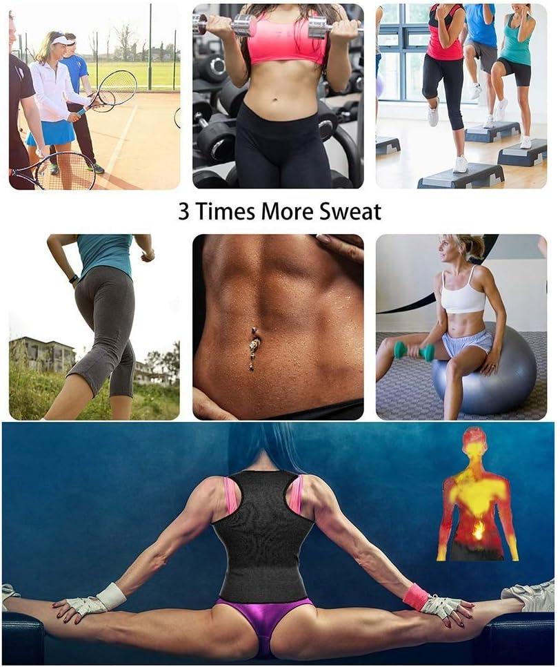 ZFLY-JJ Sweat Sauna Vest for Women Waist Trainer Corset Fitness Weight Loss Body Shaper