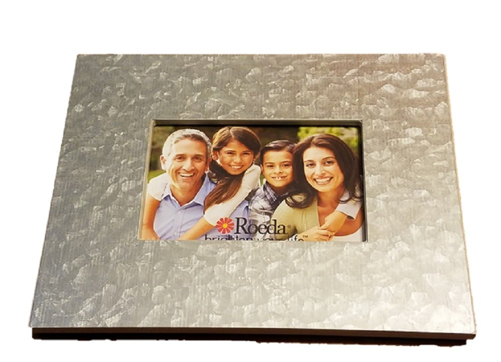 Embellish Your Story 60004GAL Galvanized Magnetic Desk Photo Frame Fits a 4x6 Photo