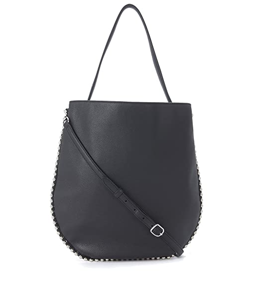 dc3f50532f Image Unavailable. Image not available for. Colour  Alexander Wang Women s Alexander  Wang Roxy Hobo Black Leather Shoulder Bag Black