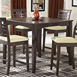 Hillsdale Tiburon 40 x 40 Counter Height Fix Top Dining Table-Espresso
