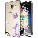 Samsung Galaxy A3 2016 Hülle Handyhülle von NICA, Slim Silikon Motiv Case Cover Crystal Schutzhülle Dünn Durchsichtig, Etui Handy-Tasche Backcover Transparent Phone Bumper, Designs:Dandelion Pink