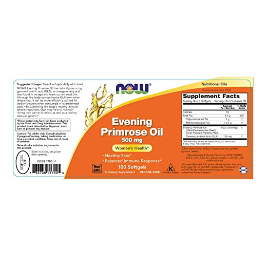 Amazon.com: Now Foods Primavera (Primrose Oil 500 mg, 1: Beauty
