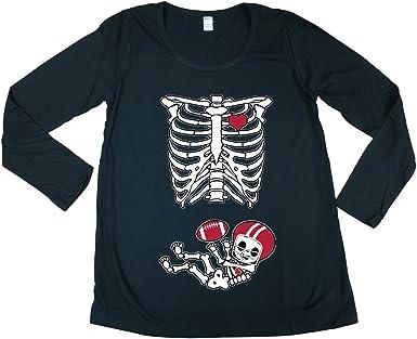 Baby Skeleton Minnesota Football Ladies DT T-Shirt Tee