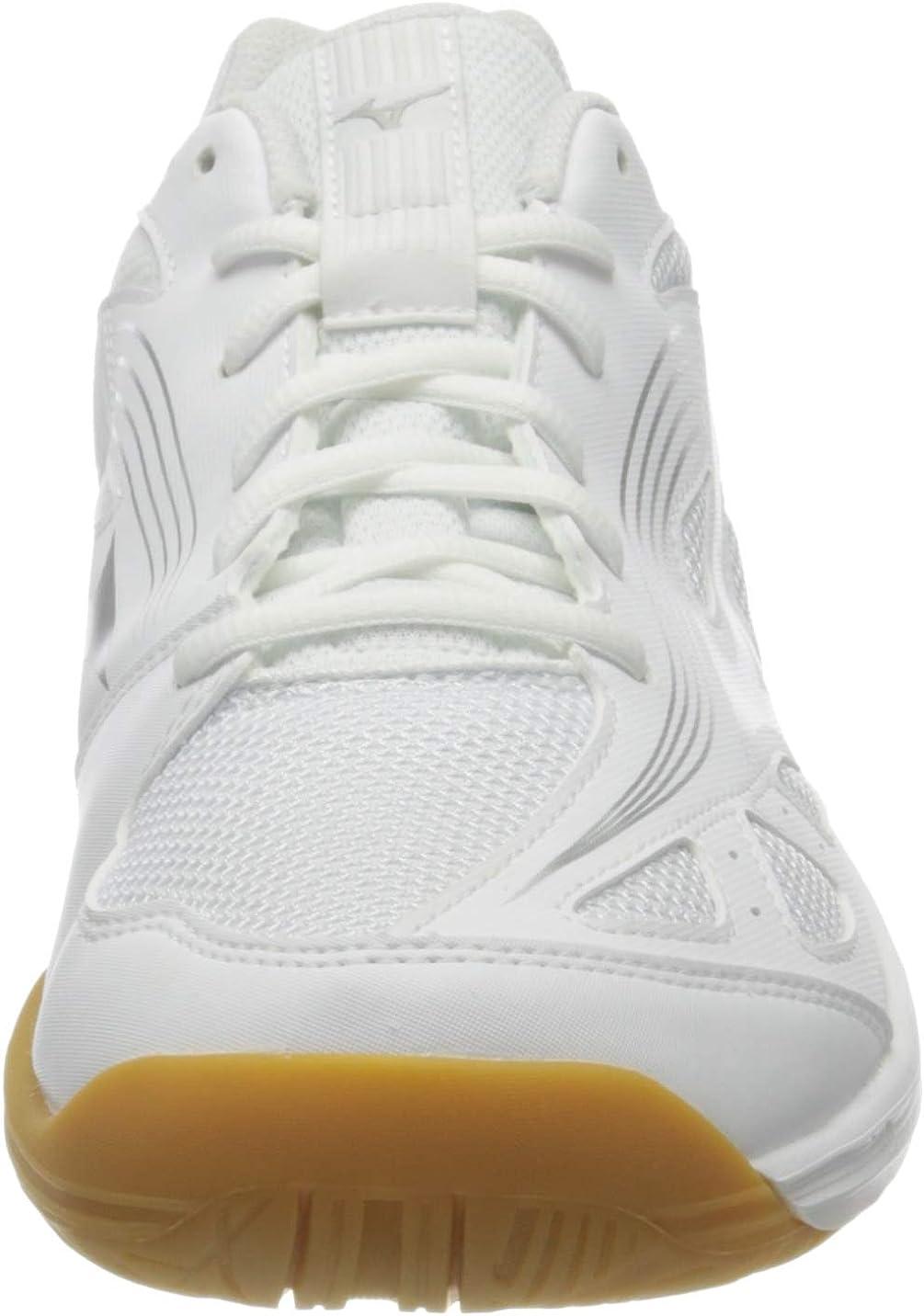 Mizuno Womens Running Volleyball Shoe White Silver 8 us