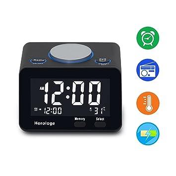 USB Alarm Clock, Digital Alarm Clock Radio With USB Charging Port, Clock,  Alarm
