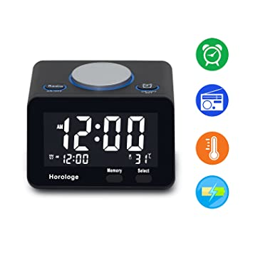 Amazon.com: USB Alarm Clock, Digital Alarm Clock Radio with USB ...