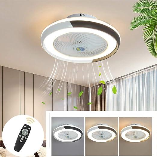 Ventilador de Techo Moderno Con Iluminación LED, Regulable Con ...