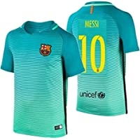 18a13f90 2016 Messi #10 Barcelona Away Jersey & Shorts for Kids and Youths Color  Green