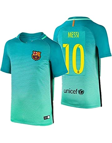 acb26c6e012 2016 Messi  10 Barcelona Away Jersey   Shorts for Kids and Youths Color  Green