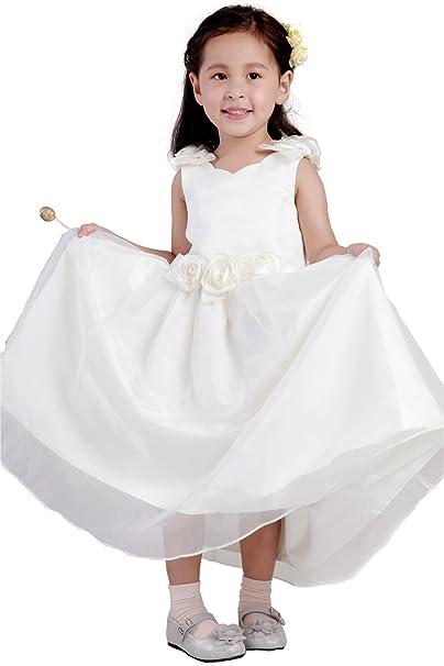Orient de novia de color blanco vestidos de diseño de flores tutú vestidos de niña vestidos