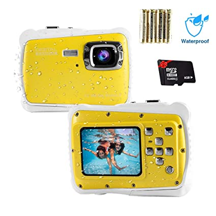 Amazon.com: Cámara digital impermeable para niños de 12 MP ...