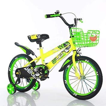 Bicicleta para niños 100 cm, 115 cm, 121 cm Bicicleta niño niña Bicicleta,Green,121cm: Amazon.es: Deportes y aire libre