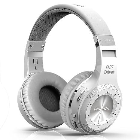 Bluedio H+ Turbine - Auriculares de diadema cerrados inalámbricos (Radio FM, Bluetooth, 3.5