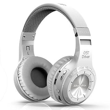 Bluedio H+ Turbine - Auriculares de diadema cerrados inalámbricos (Radio FM, Bluetooth, 3.5 mm), color blanco: Amazon.es: Electrónica