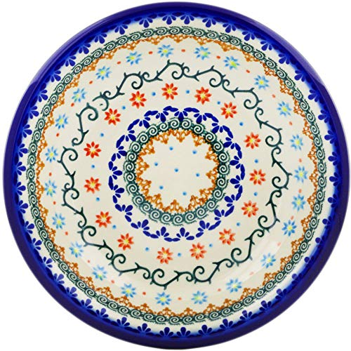 - Polish Pottery 9-inch Pasta Bowl (Sunflower Dance Theme) + Certificate of Authenticity