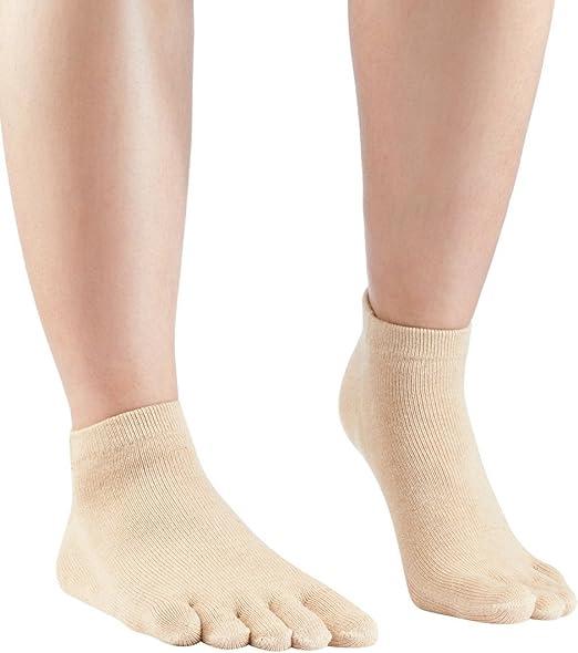 Knitido Naturals Organics Sneaker | Calcetines tobilleros de dedos para hombre y mujer en algodón orgánico, Talla:35-38, Colores:Coyote Brown: Amazon.es: Ropa y accesorios