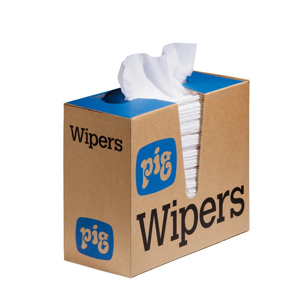 New Pig PR70 Maintenance Wipers, Heavy-Duty Pop-Up Wipers, 16'' x 9'', 750 Wipes (6 Boxes of 125), WIP328