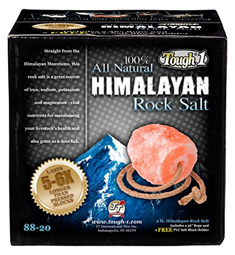 Tough-1 2 lb. All Natural Himalayan Rock Salt Pasture Block. Includes a 36