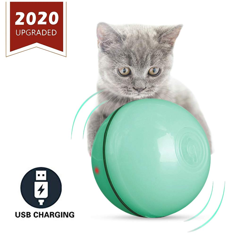 ELEBOOT 2020 Upgrade Vision Smart Interactive Cat Toys Ball,Automatic Rolling Laucher Ball for Kitten, USB Rechargeable…