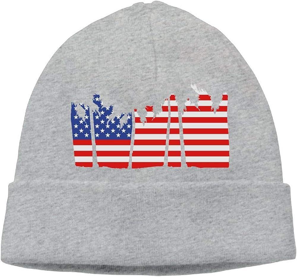 Oopp Jfhg USA Palm Trees Beanie Knit Hat Ski Caps Mens