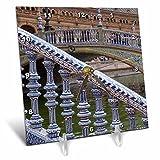 3dRose Danita Delimont - Bridges - Spain, Andalusia, Seville. Ornate bridge along the Plaza de Espana. - 6x6 Desk Clock (dc_277895_1)