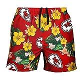 FOCO Men's Team Logo Floral Hawaiin Swim Suit