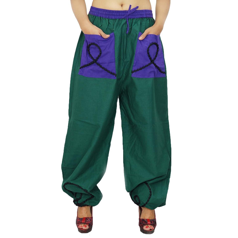 Frauen tragen Haremshosen elastische Taillen-Hosen Sommer-beiläufige Hosen Indien Wear