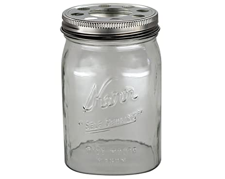 open bottom mason jar glass shade with 1 5 8 inch fitter opening