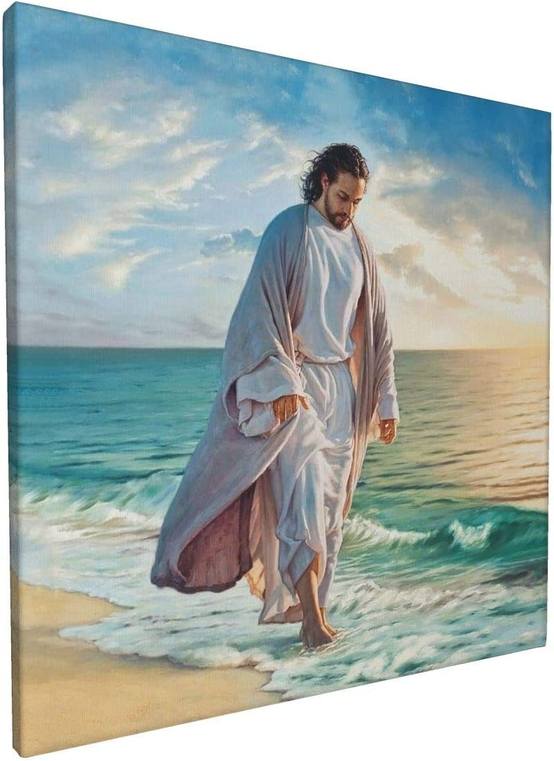 Jesus Pictures for Wall Canvas Wall Art Be Still My Soul Paintings for Living Room Framed Art Chrisitian Religious Decor Pictures Ready to Hang Size 12x12 Inches