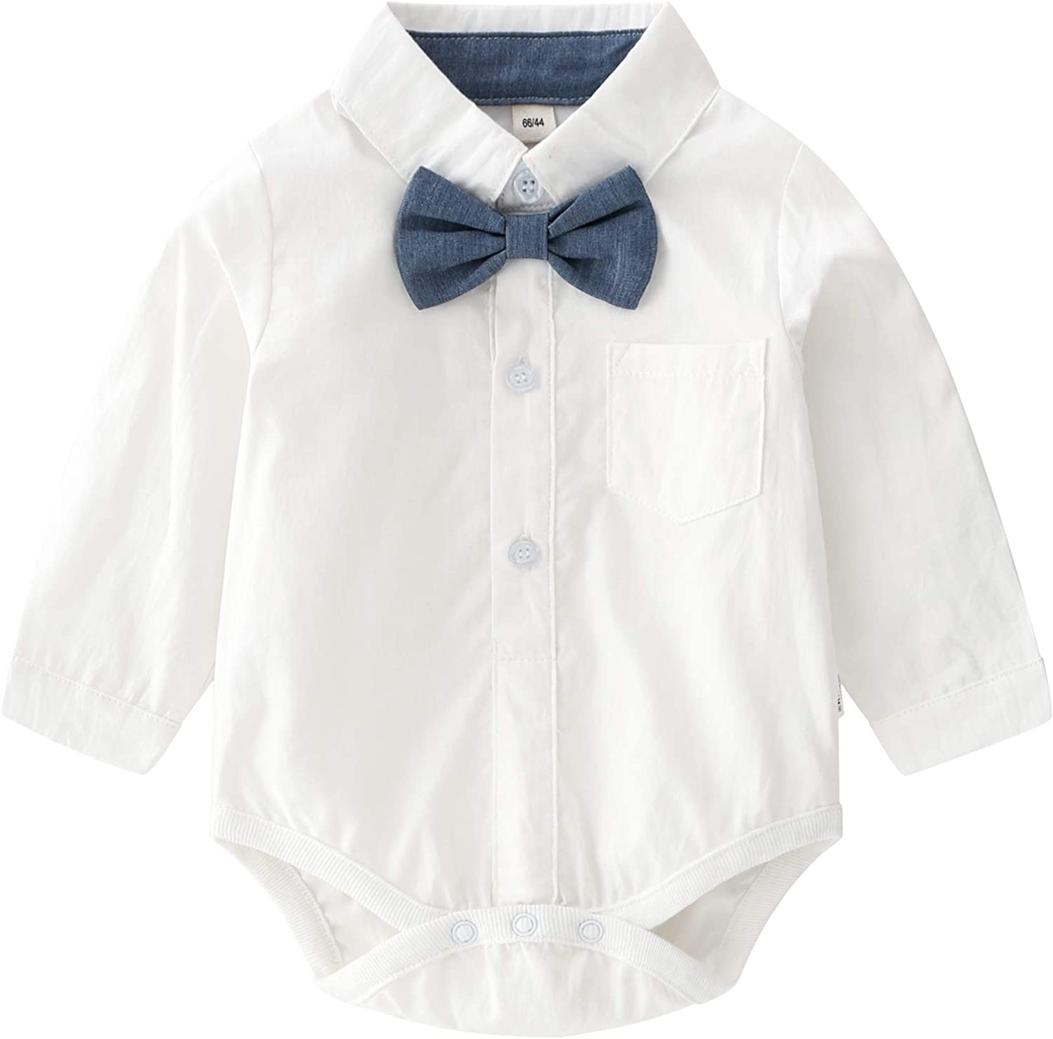 Infant Short Sleeve Shirt+Bib Pants+Bow Tie Overalls Clothes Set Baby Boys Gentleman Outfits Suits