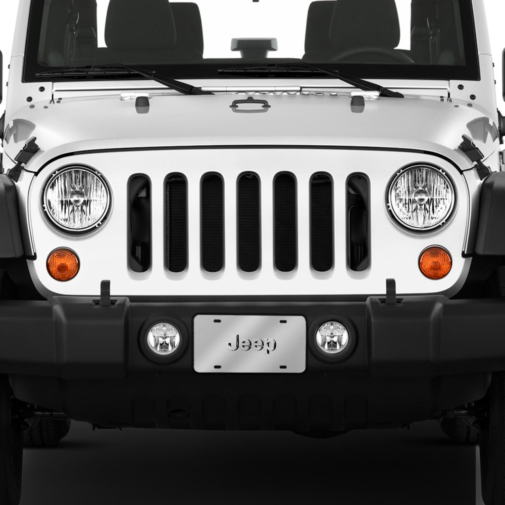 Pilot Automotive LP-130 Stainless Steel 3-D License Plate (ABS Plastic Decal, Officially Licensed Jeep) by Pilot Automotive (Image #4)